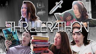I read nine thrillers in nine days 🗡 #Thrillerathon | Drinking By My Shelf