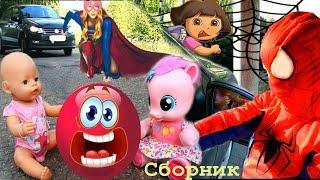 Девочки герои в масках и Даша путешественница Безопасность на дороге