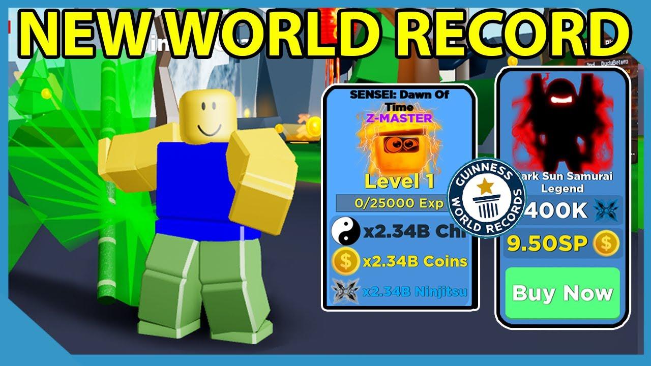 Statistik Video Youtube Untuk I Got A World Record In Roblox Ninja - buying the most powerful sword in roblox ninja masters