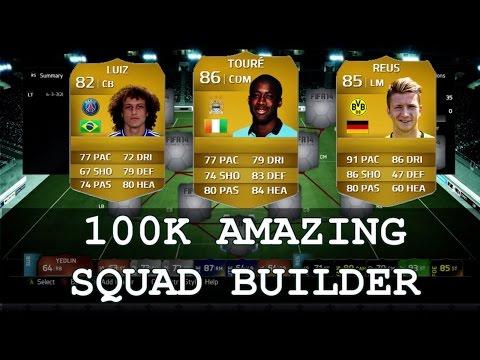 FIFA 14 | AMAZING 100K SQAUD BUILDER | REUS YAYA TOURE PSG DAVID LUIZ