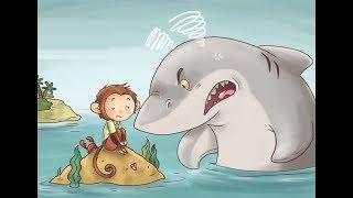قصة القرش الجائع والقرد الذكى - قصص قبل النوم للاطفال