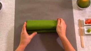Napkin folding from Duni - Wave