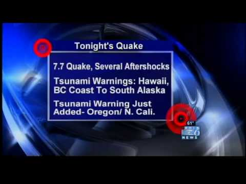 KOIN's breaking news coverage of Saturday's Canada quake