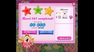 Candy Crush Saga Level 597 ★★★ NO BOOSTER