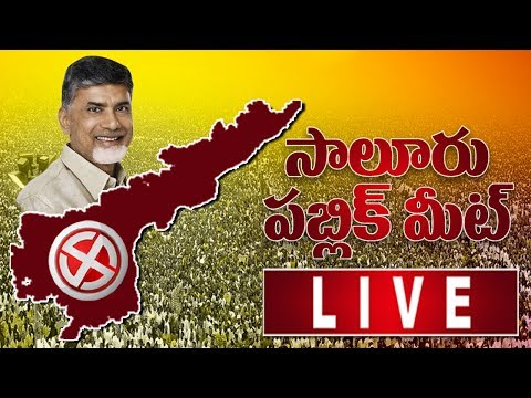 Chandrababu Naidu Live From Salur Public Meeting    TDP Cheif Chandrababu Naidu Live   Bharat Today
