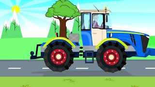 Working Tractors - Yellow truck and delivery of parts for the construction of the Tractor - Bajka XD