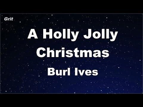 Karaoke♬ A Holly Jolly Christmas - Burl Ives 【No Guide Melody】 Instrumental