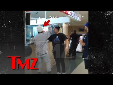 Lil Xan Goes Wild at Mall Food Court