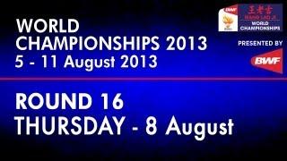 R16 - MS - Lee Chong Wei vs Wang Zhengming - 2013 BWF World Championships