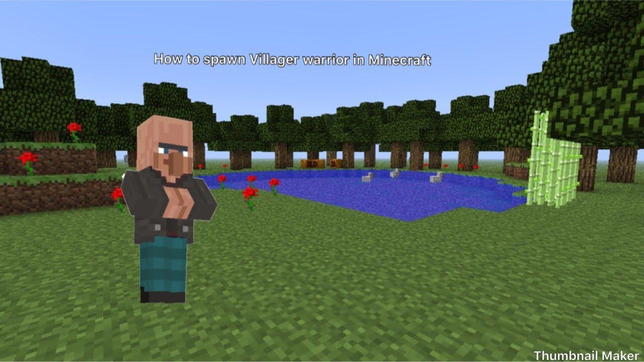 How to spawn villager warrior in Minecraft - YouTube