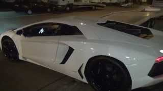 Lamborhini Aventador LP700-4 very loud start up sound and drive off FULL HD 1080p