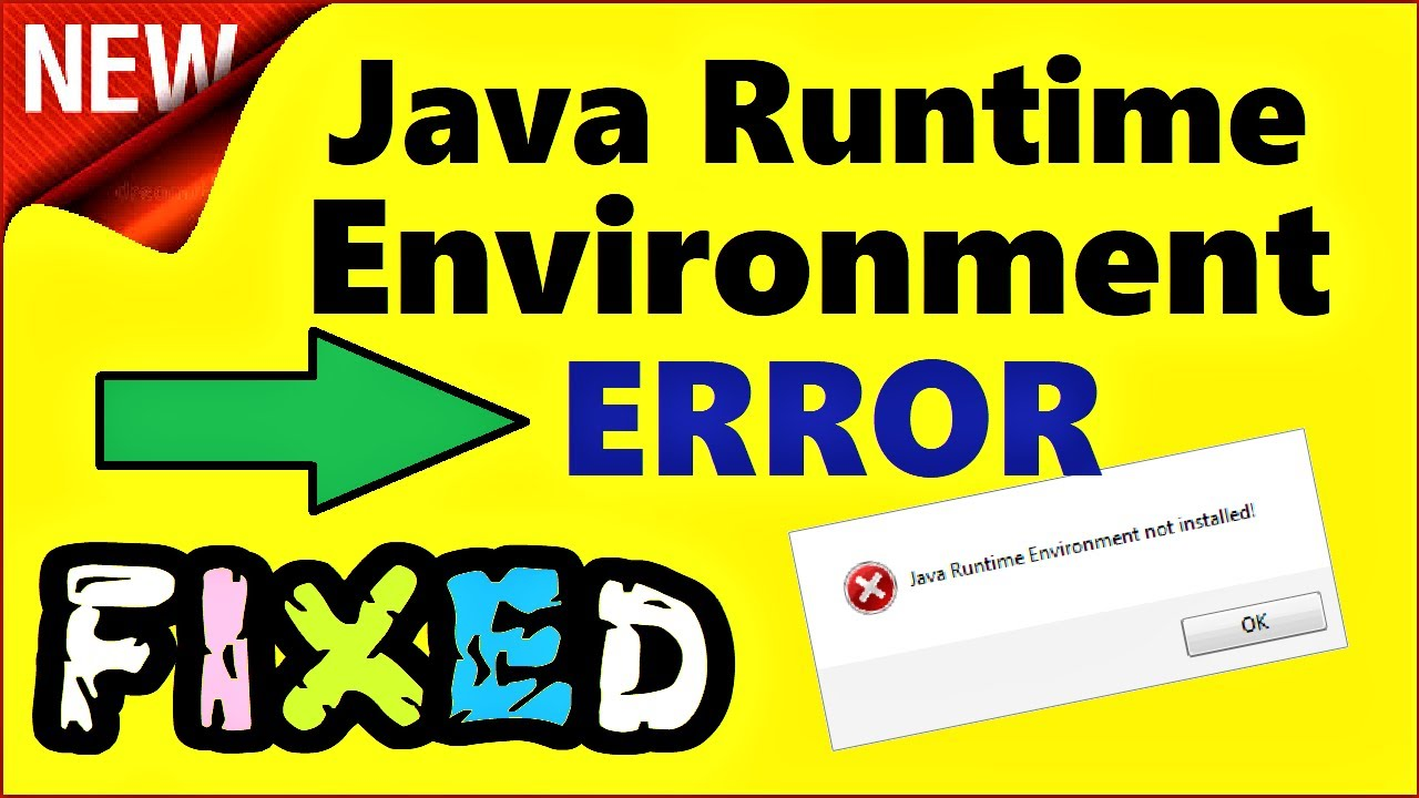 Java Runtime Environment not found FIX | How to install Java JRE ...