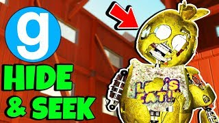 Brand New FNAF Tattered Chica Playtime & Baldi's Hide and Seek Gmod FNAF Sandbox Funny Moments