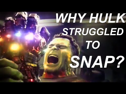 Why Tony Snapped So Easily But Hulk Struggled ?