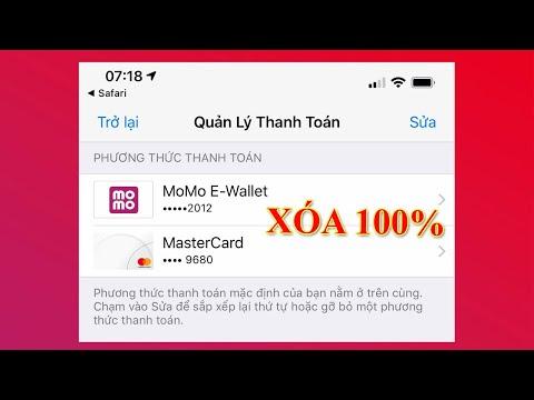 Cách xóa MoMo ra khỏi phương thước thanh toán Apple 100% thành công