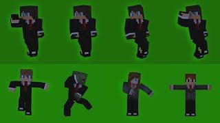 Fortnite dance in Minecraft [GREEN SCREEN]