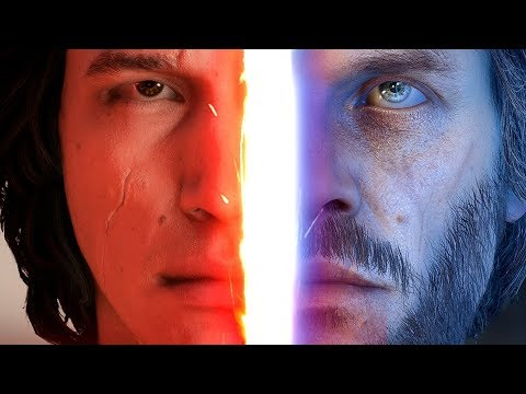 ◀THE LAST JEDI: KYLO VS LUKE SCENE Recreated in Battlefront 2