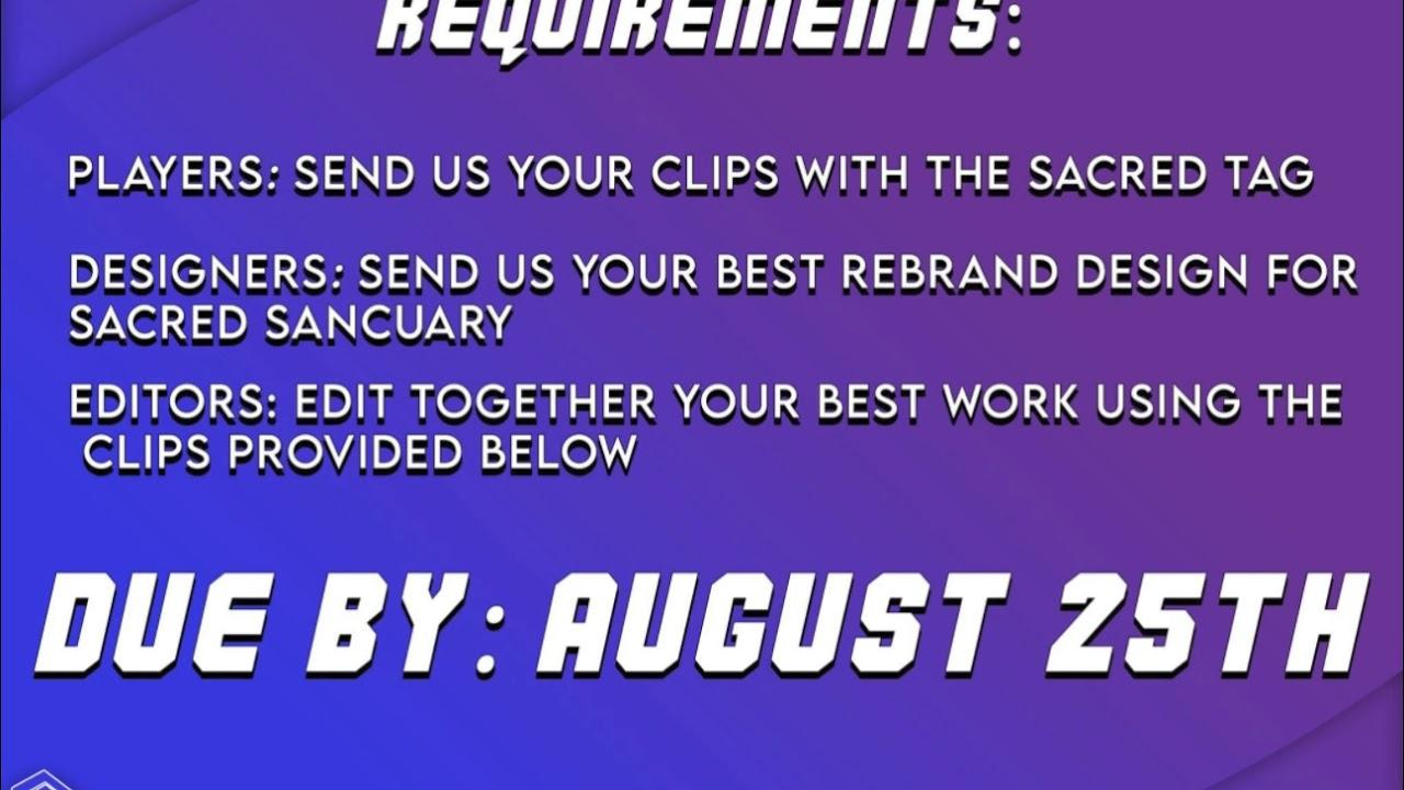Sacred Sanctuary 2020 Recruitment Challenge [Open]