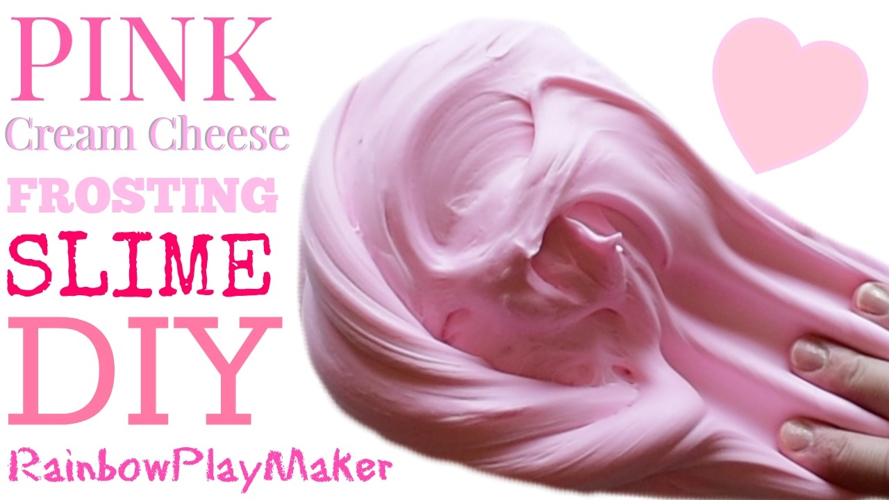 Diy Pink Cream Cheese Frosting Fluffy Slime!!! How To Recipe Tutorial Video