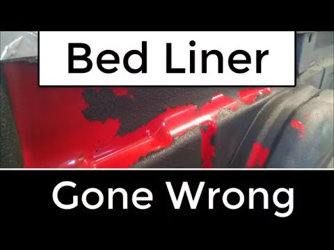 How to Spray Bed Liner - the Wrong Way