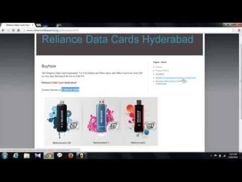 reliance data card hyderabad