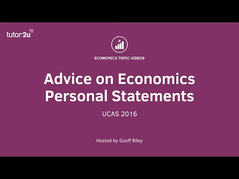 Advice on Economics Personal Statements