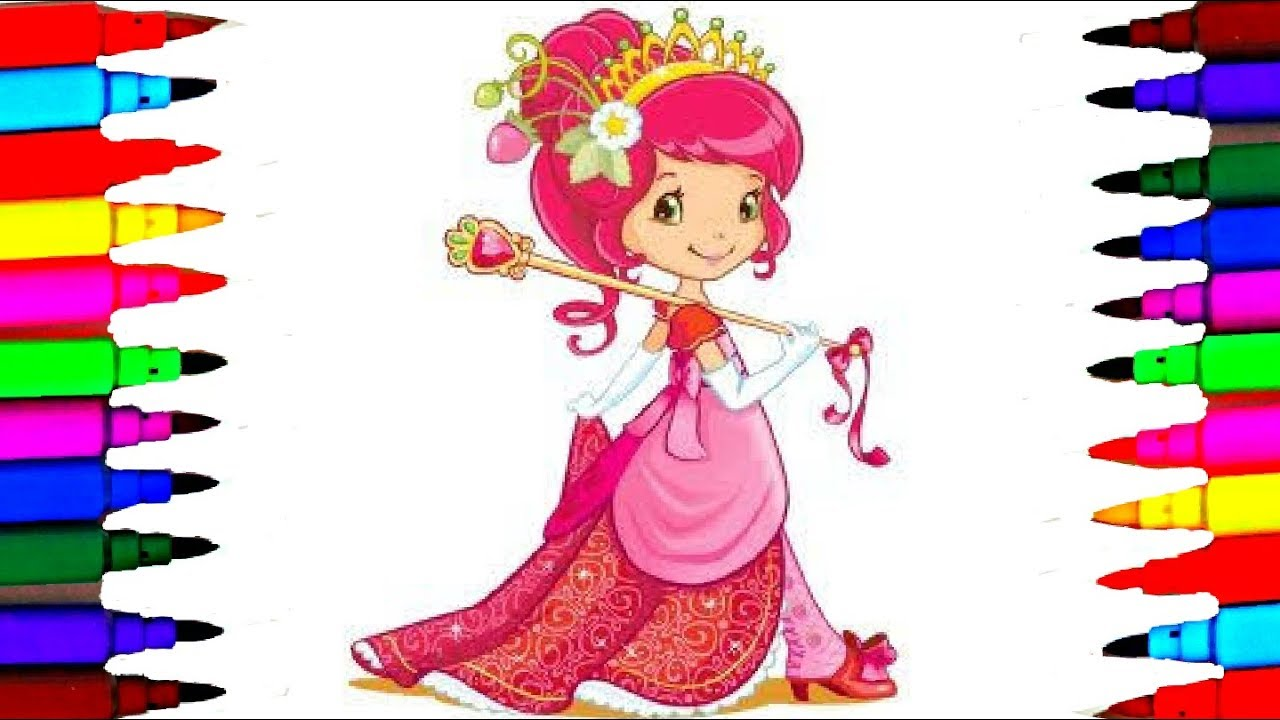 strawberry shortcake princess for girls coloring pages l drawing