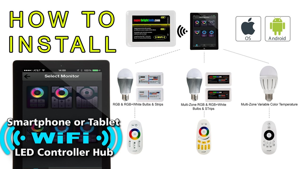 How to set up led wifi to smartphone or tablet youtube greentooth
