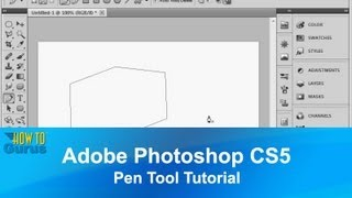 Adobe Photoshop CS5 Pen Tool Tutorial - How to Use Vector Graphics in Photoshop