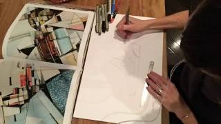 Graffiti inspired footwear sketching