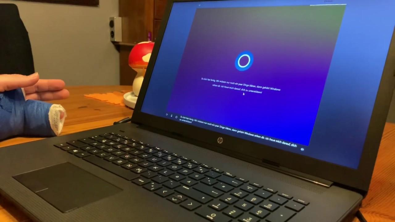 PC / Laptop Betriebssystem Microsoft Windows 10 mit Sprachsteuerung  (Cortana) einrichten Anleitung