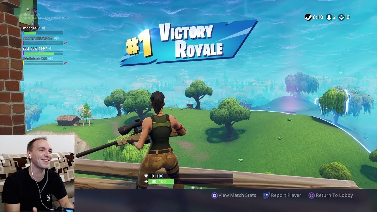 first time players beat fortnite - 1280×720