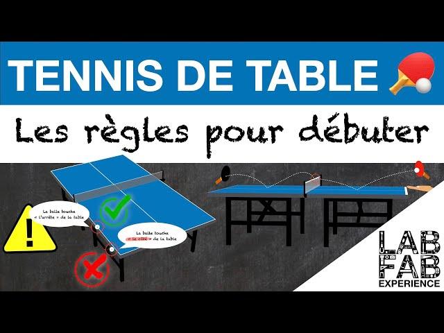 Les règles du Tennis de Table - L'essentiel pour débuter - Version complète ✅