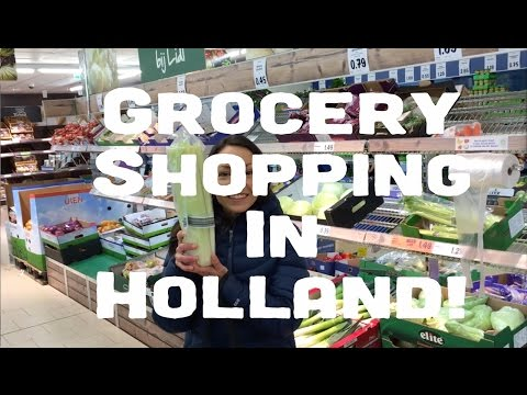 GIANT Vegetables + Grocery Shopping in Holland!
