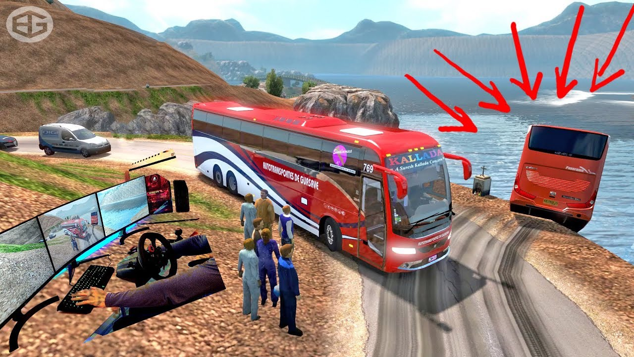 Volvo bus Driving | ETS2 G29 | Euro truck simulator 2 with bus mod