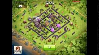 Clash of Clans [Defense] P.E.K.K.A's, Barbarian King, Triple Lightning Spells, & Wizards