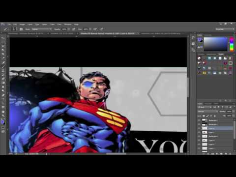 Free Superman Banner Template! Download @ 10 Likes!