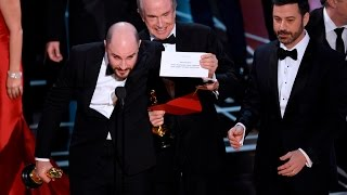 """Worst Mistake in Oscars History! Wrong """"Best Picture"""" Announced!"""