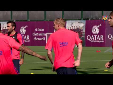 FC Barcelona training session: Fourth day of preseason training