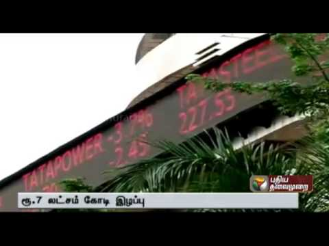 India: Sensex suffers biggest one-day loss since 2009 after China 'Black Monday' rout