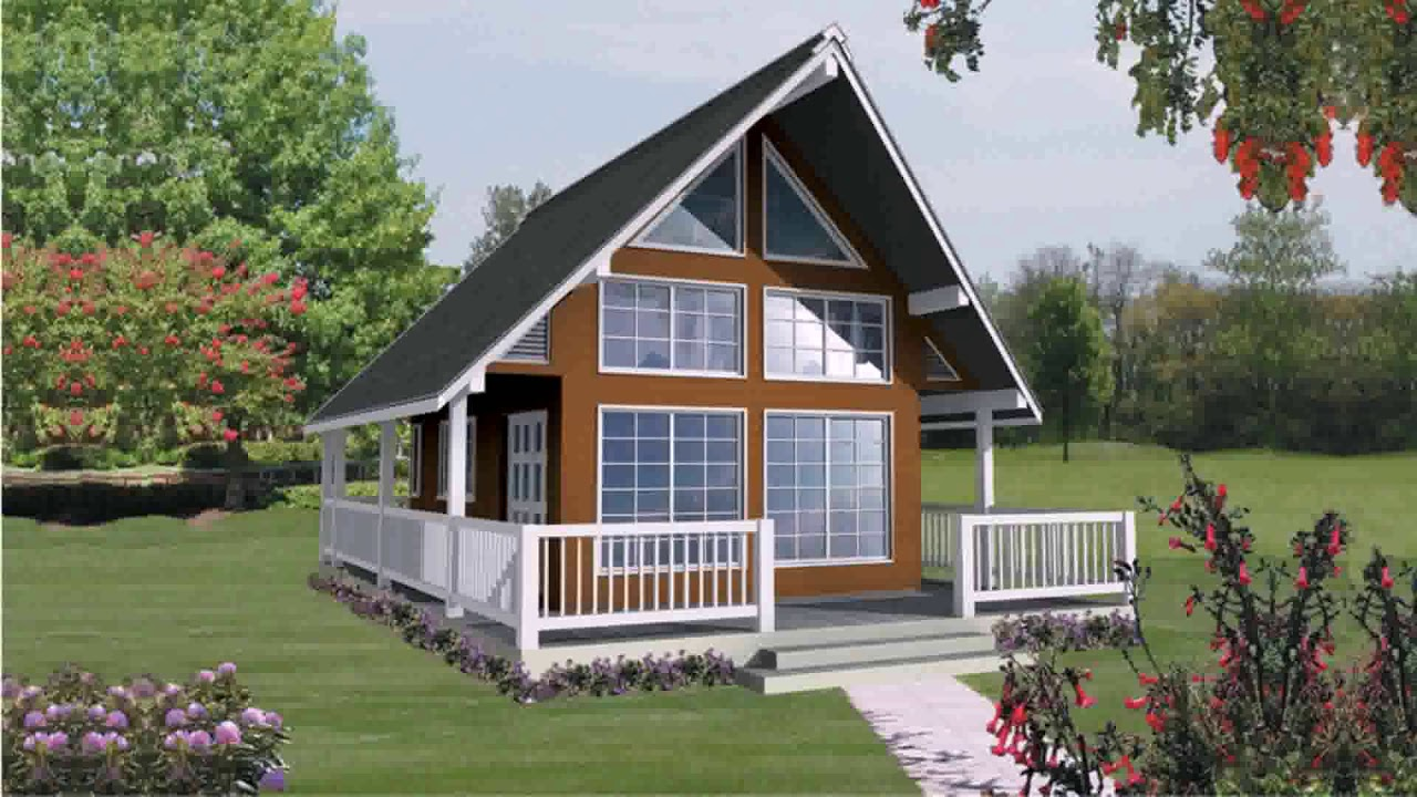 A Frame House Plans With Walkout Basement Youtube