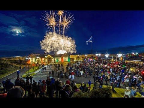 Santa Arrives at Trump International Golf Links Aberdeen