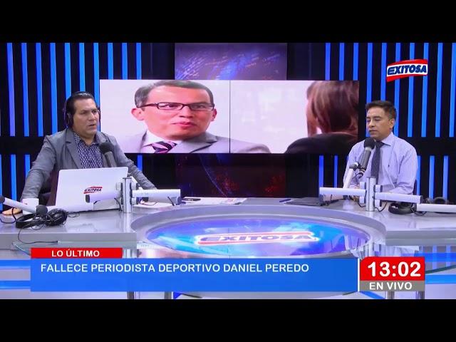 ÚLTIMO MINUTO   Fallece Daniel Peredo