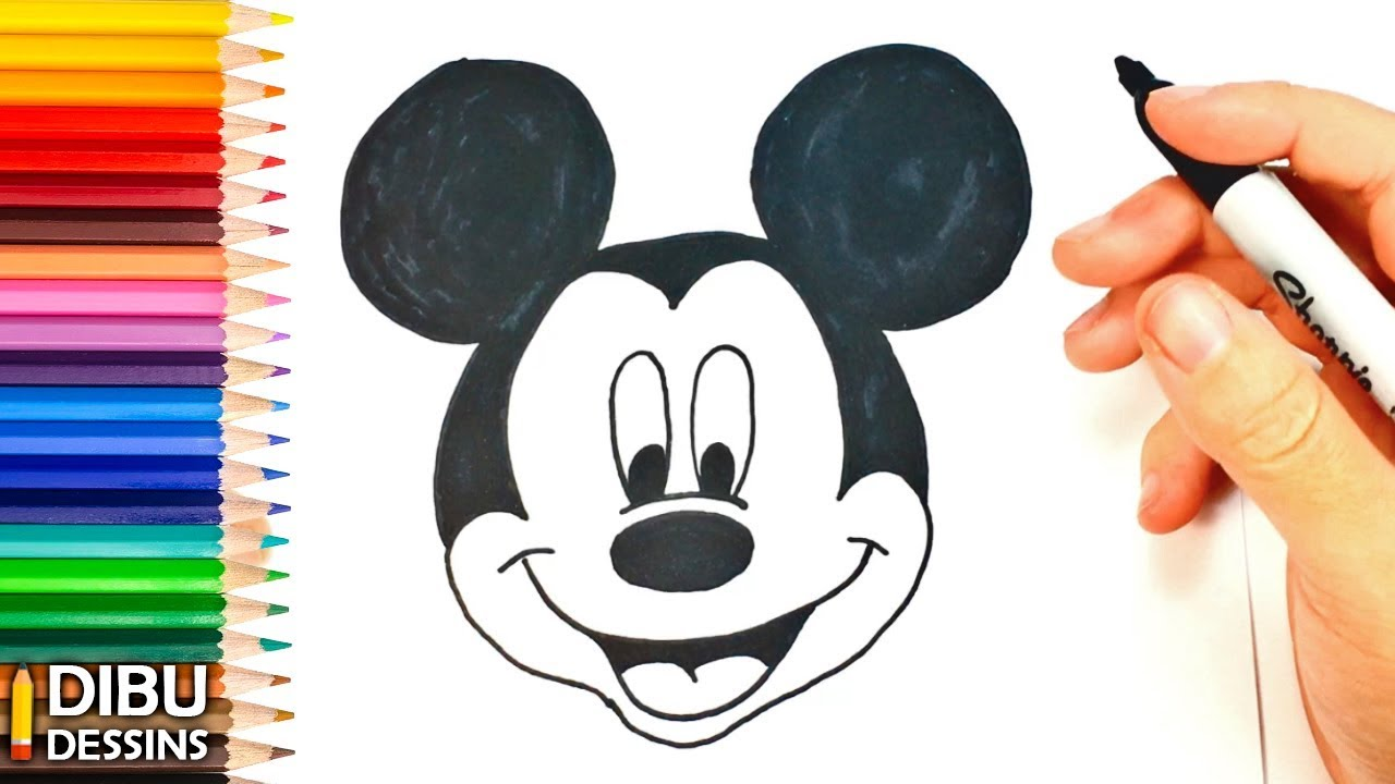 Comment Dessiner Mickey Mouse Dessin De Mickey Mouse Youtube