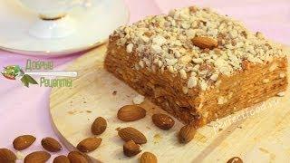 Вафельный торт со сгущёнкой - видео-рецепт без яиц