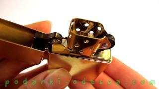 Зажигалка Zippo 207 G Gold Dust (Видео обзор) podarki-odessa.com