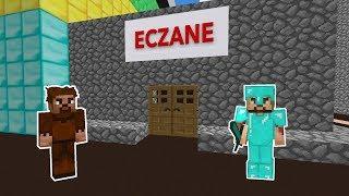 ZENGİN ŞEHRE ECZANE VE HASTANE YAPTIRIYOR 😱 - Minecraft