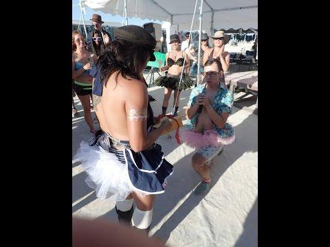 Amazing Proposal: Burning Man 2014 Karaoke Surprise
