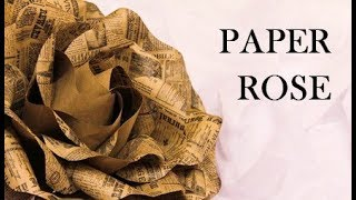 Paper roses. Paper flowers. Large paper rose. Flowers on the wall. DIY wedding decor. Paper craft