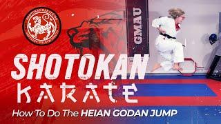 Shotokan Karate | SHORT LESSON: How To Do The Heian Godan Jump